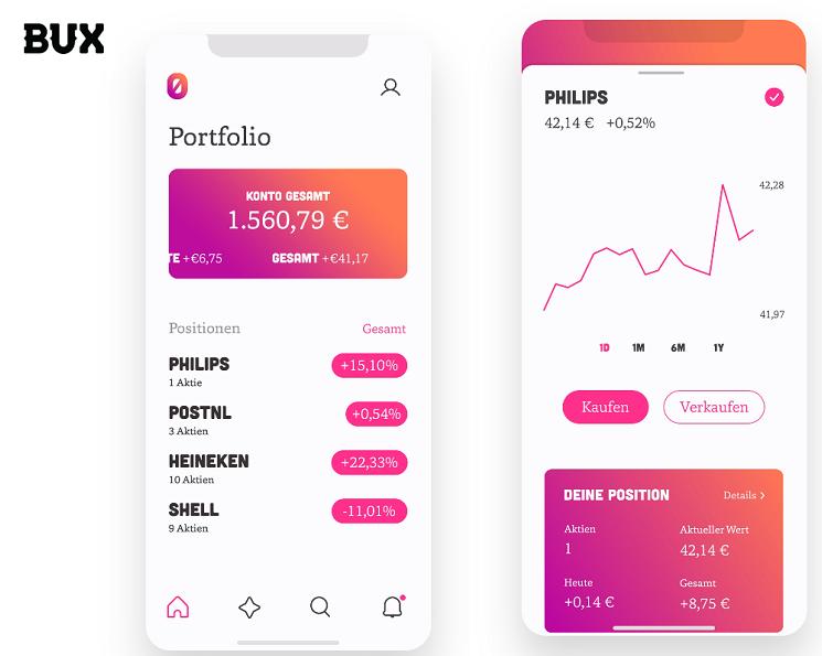 BUX Zero Smartphone Broker Depot