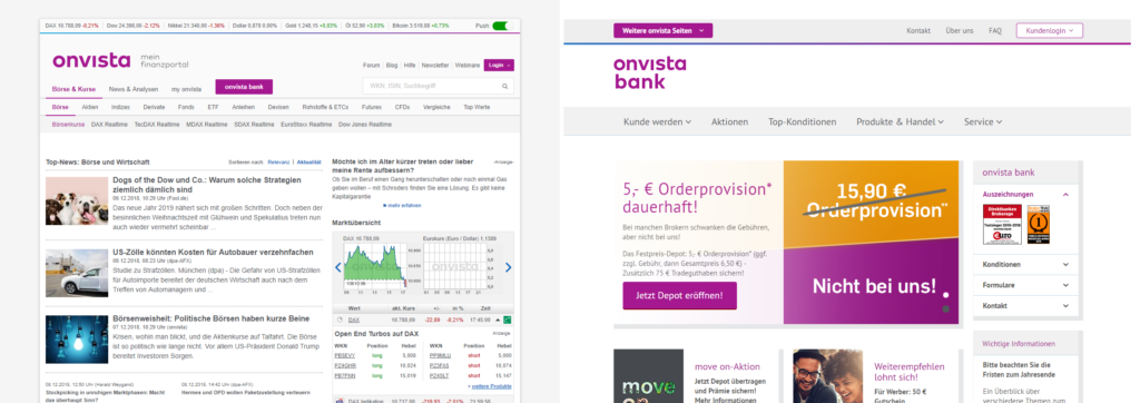 Onvista Bank Homepage Sparplan anlegen