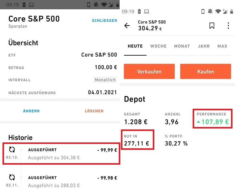 Trade Republic Sparplan S&P 500