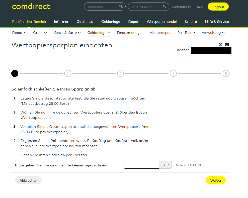 Comdirect Ordergebühr
